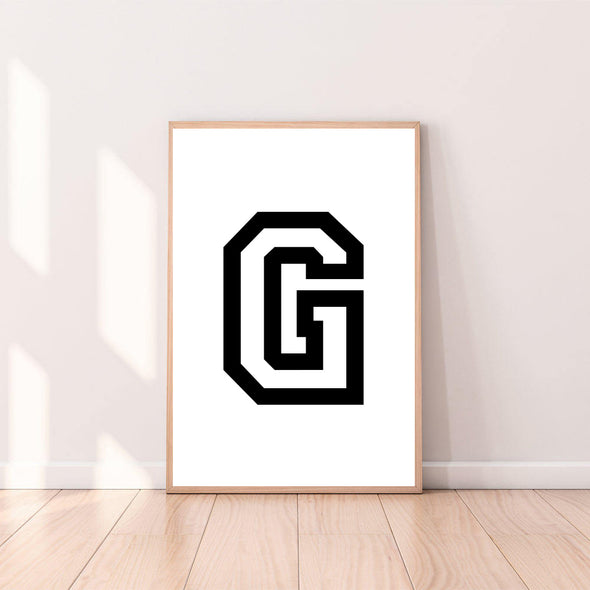 Letter Wall Art G color_black