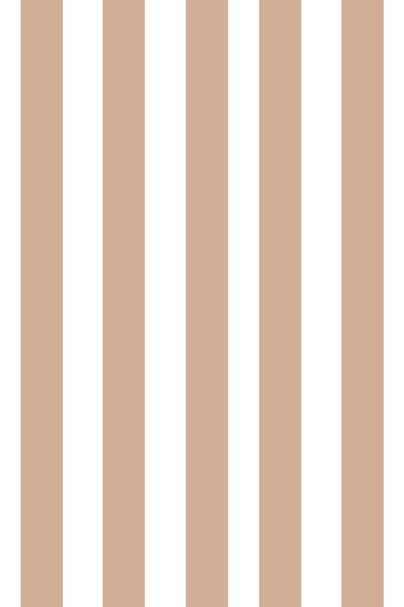 Woolf With Me Fitted Crib Sheet Stripes color_hazelnut