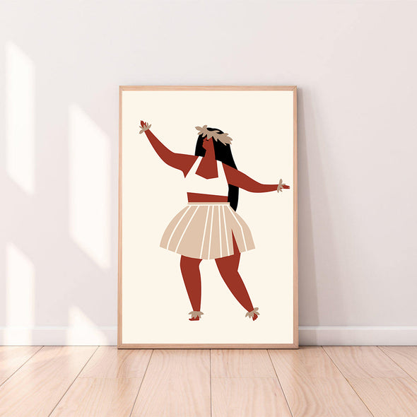 Wall Art Hula Girl