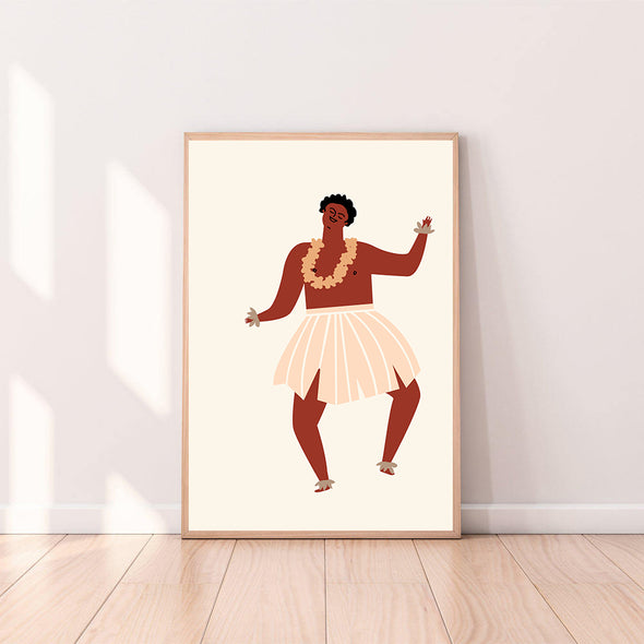 Wall Art Hula Boy