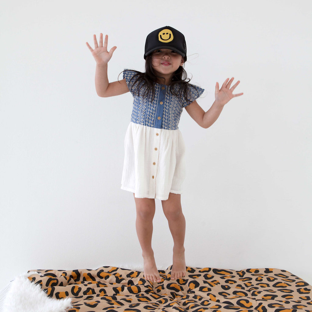 Kids Trucker Hat Happy Face // Same Day Shipping!