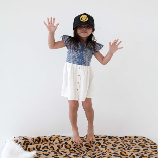 KIDS Trucker Hat Happy Face 5Y-10Y // Same Day Shipping!