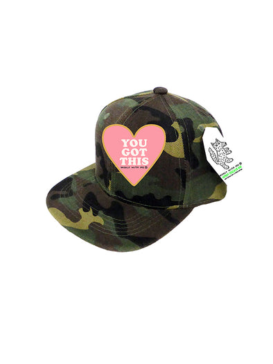 PREORDER, INFANT Trucker Hat Camouflage, You Got This 0M-12M