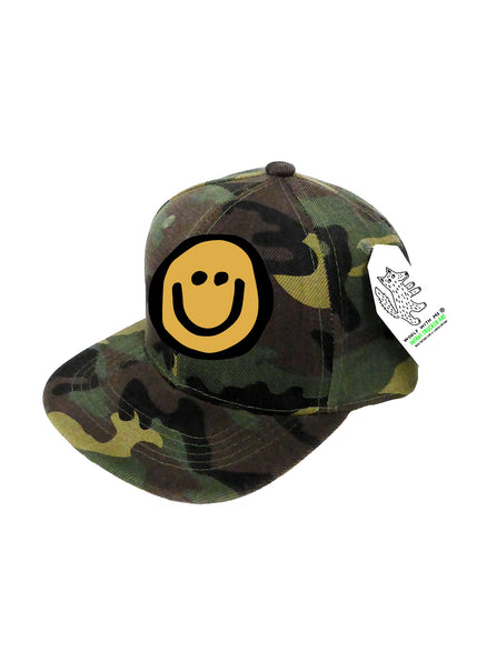 INFANT Trucker Hat Camouflage, Happy Face 0M-12M // Same Day Shipping!