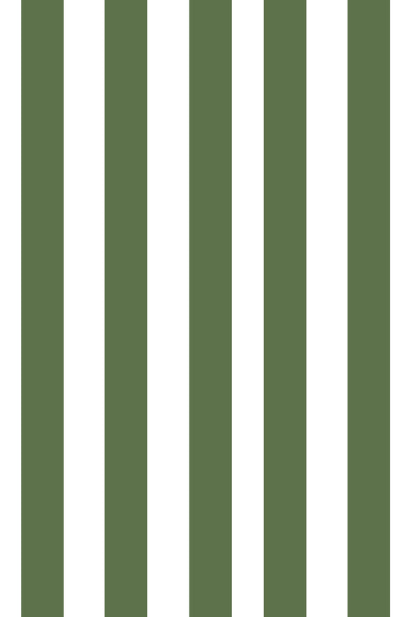 Woolf With Me Fitted Crib Sheet Stripes color_kale