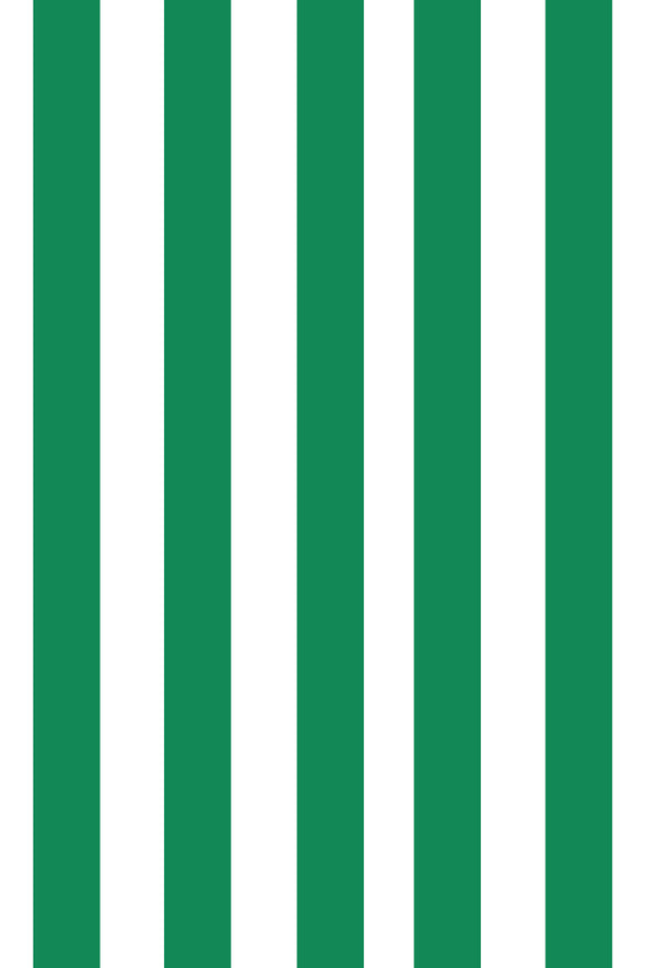 Woolf With Me Fitted Crib Sheet Stripes color_kelly-green
