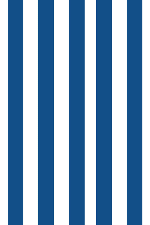 Woolf With Me Fitted Crib Sheet Stripes color_lapis-blue