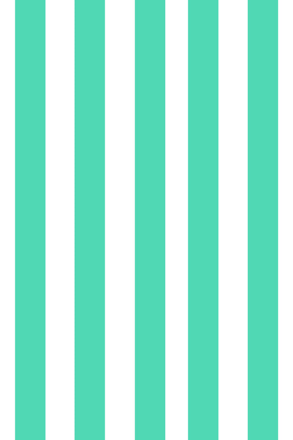 Woolf With Me Fitted Crib Sheet Stripes color_light-jade