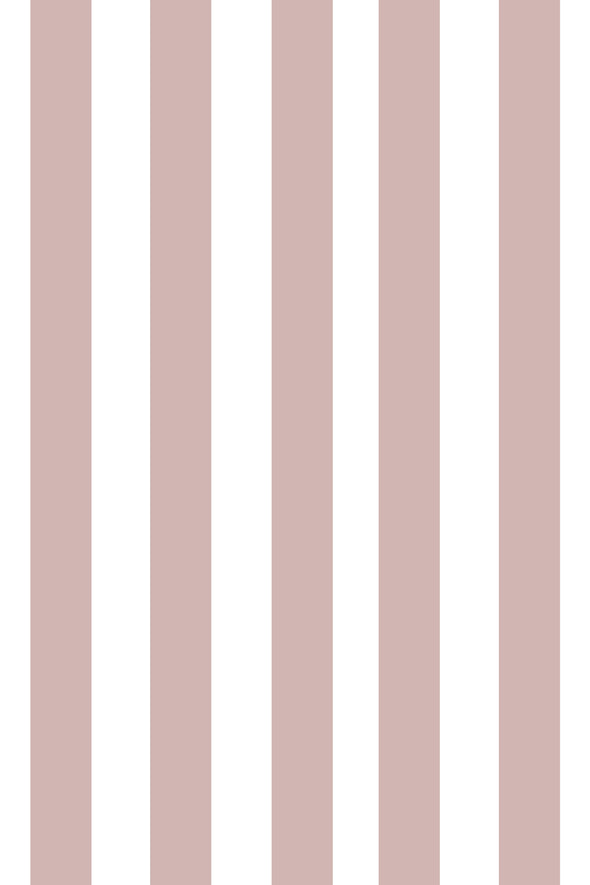 Woolf With Me Fitted Crib Sheet Stripes color_mauve