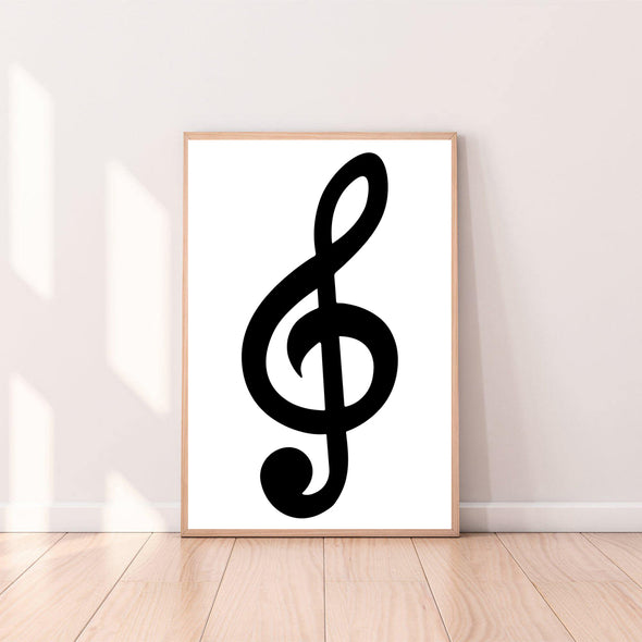 Wall Art Musical Note - Treble Clef