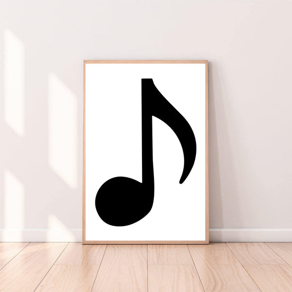 Wall Art Musical Note - Eighth Note