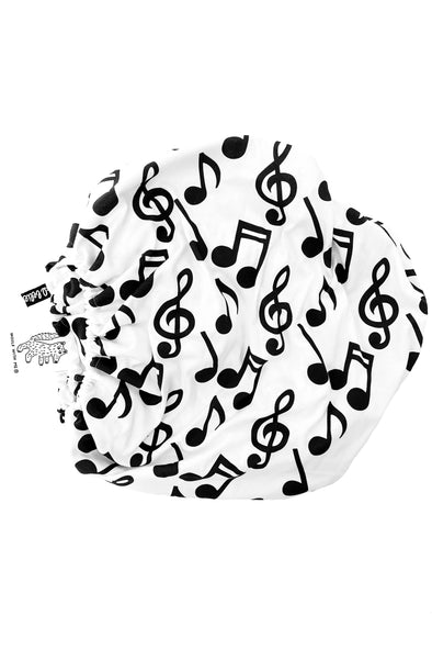 Woolf With Me Fitted Crib Sheet Musical Notes color_black