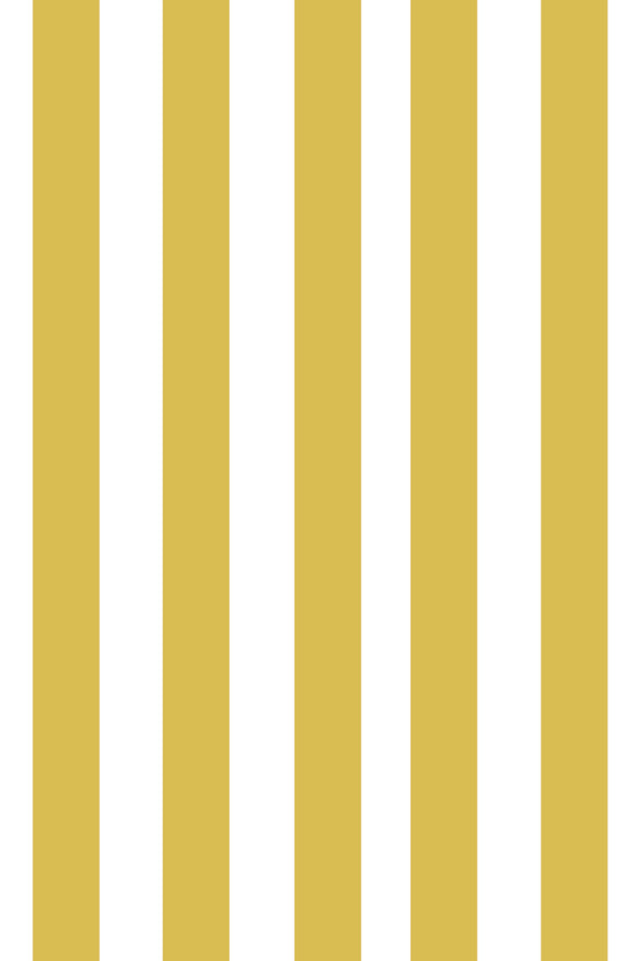 Woolf With Me Fitted Crib Sheet Stripes color_mustard