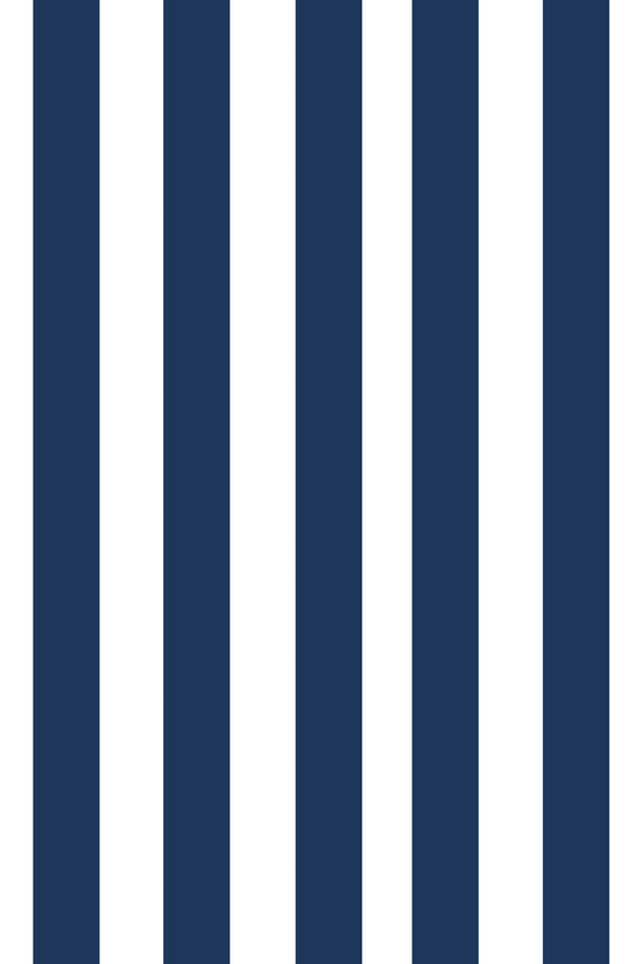 Woolf With Me Fitted Crib Sheet Stripes color_navy