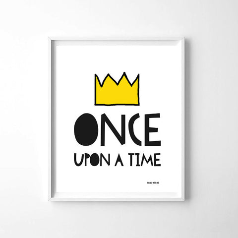 Wall Art Once Upon a Time 20x24 - Woolf With Me®