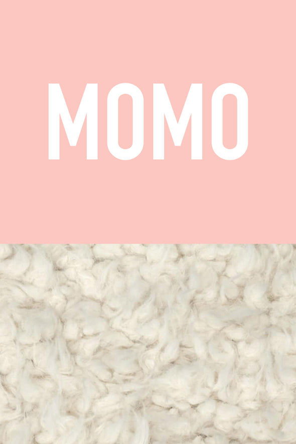 Woolf With Me Organic Personalized Baby Blanket color_pale-pink