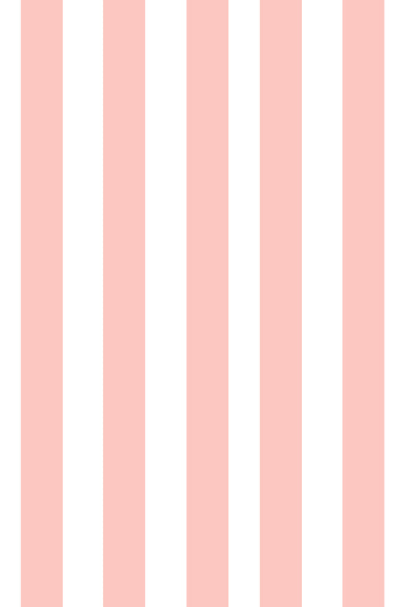 Woolf With Me Fitted Crib Sheet Stripes color_pale-pink