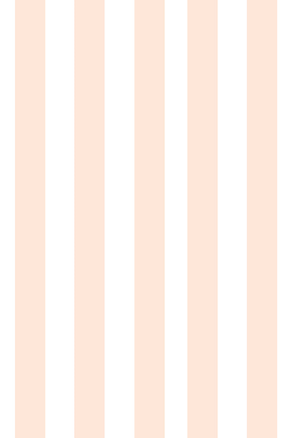 Woolf With Me Fitted Crib Sheet Stripes color_pale-blush