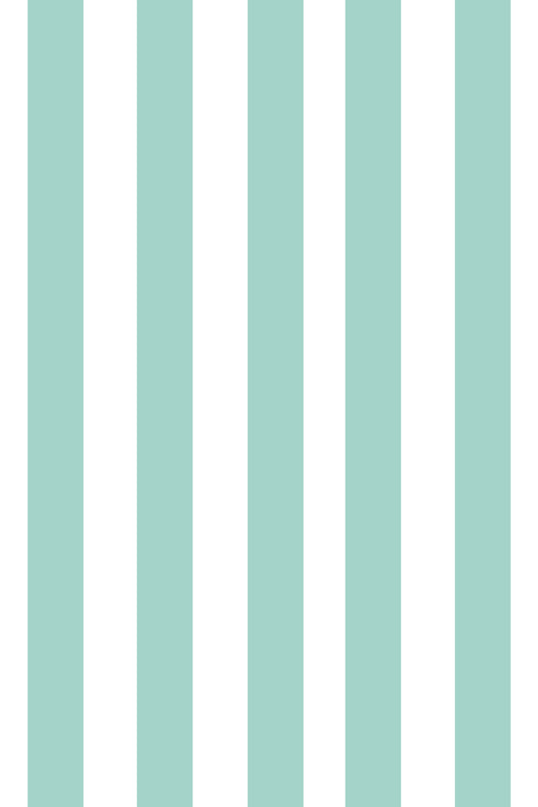 Woolf With Me Fitted Crib Sheet Stripes color_pale-turquoise