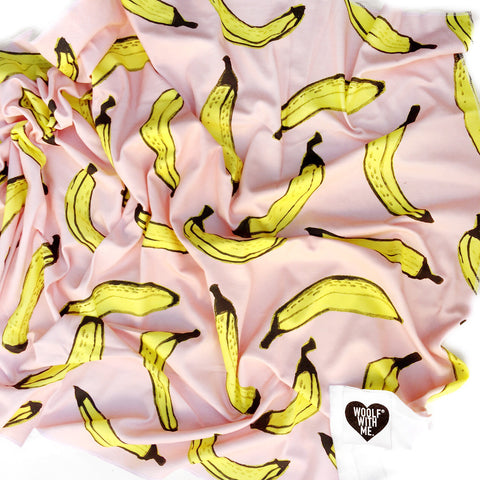Organic Swaddle Blanket Bananas - Woolf With Me® - 1