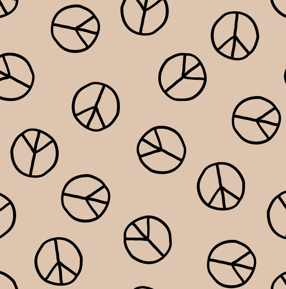 Organic Swaddle Blanket Peace Signs