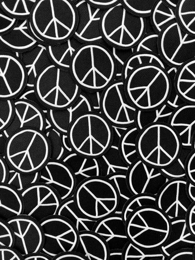 Peace Sign Embroidery Patch // Same Day Shipping!