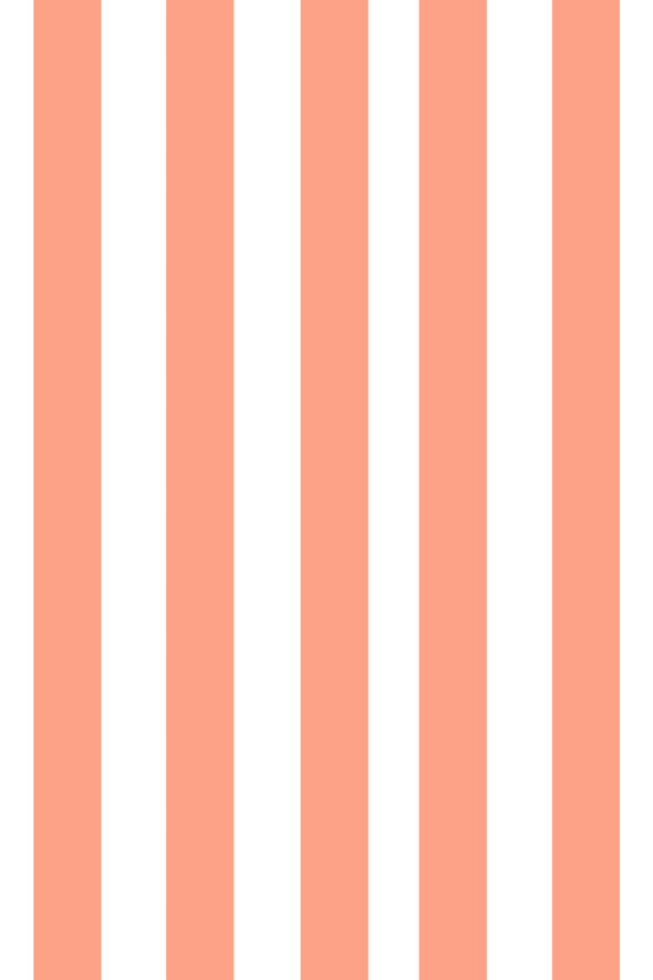 Woolf With Me Fitted Crib Sheet Stripes color_peach