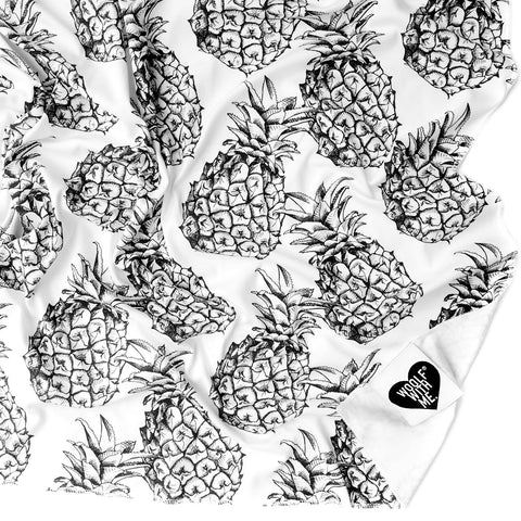 Organic Swaddle Blanket Pineapple - Woolf With Me® - 1