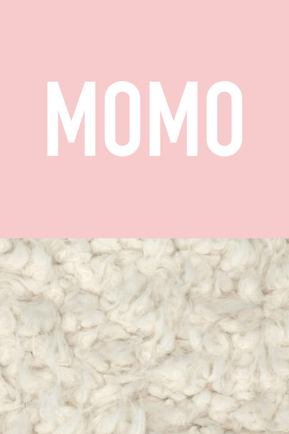 Woolf With Me Organic Personalized Baby Blanket color_rose-quartz
