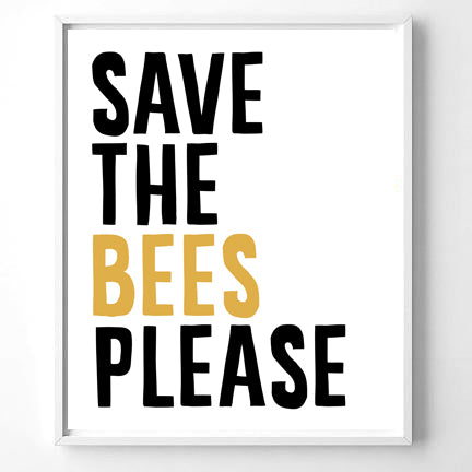 Wall Art Save the Bees Please