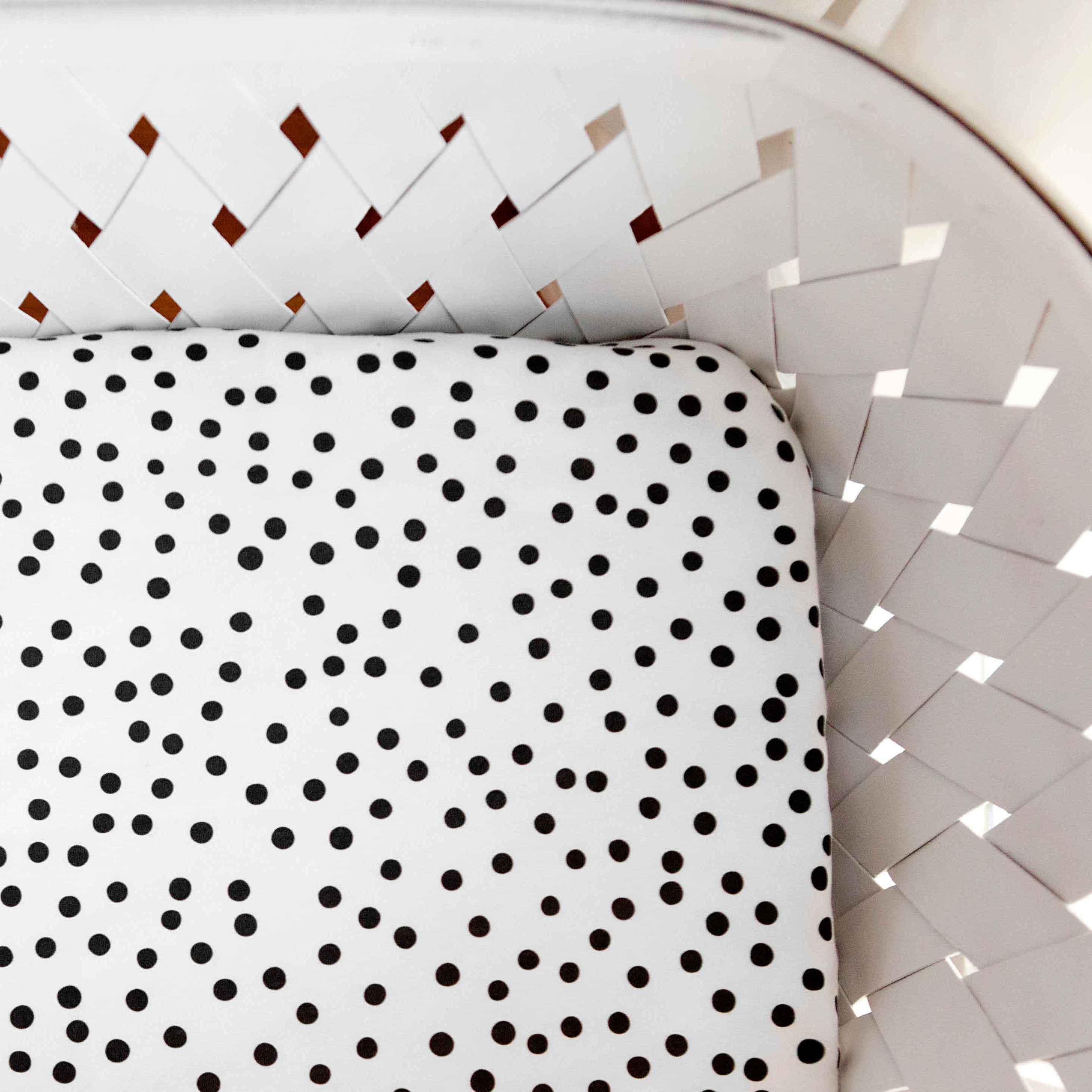 Organic Crib Sheet Scattered Polka Dots – Woolf With Me LLC