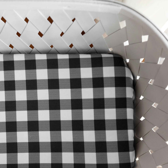 Organic Crib Sheet Small Buffalo Check