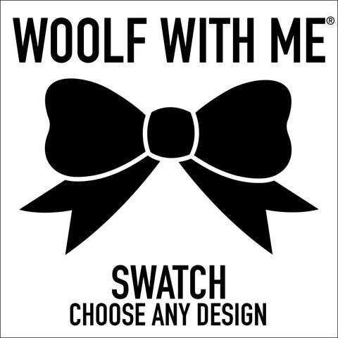 "Organic 8""x8"" Swatch // Choose Any Print - Woolf With Me®"