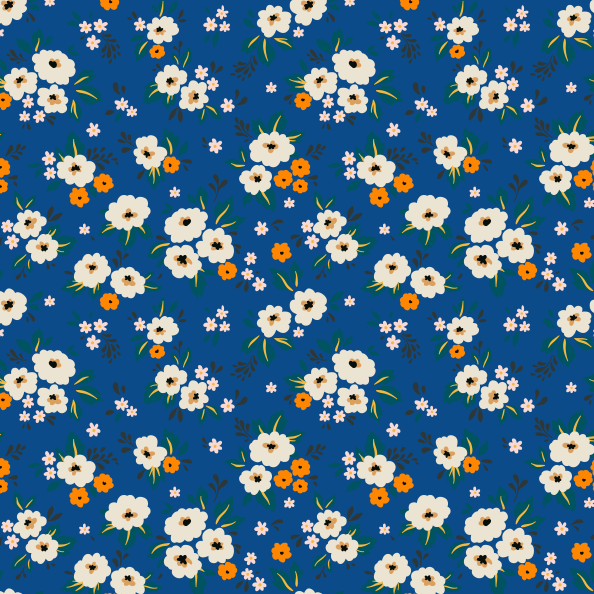 Changing Pad Cover 70's Floral