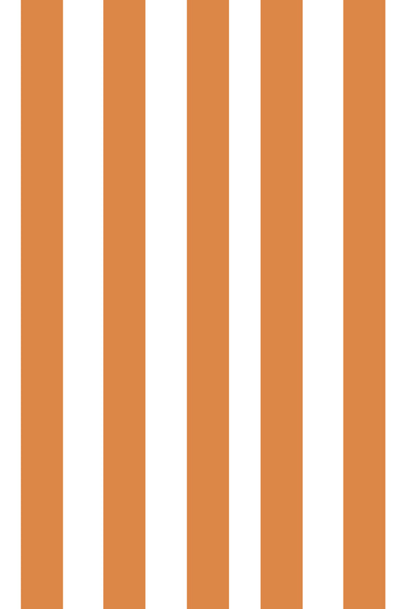 Woolf With Me Fitted Crib Sheet Stripes color_tangerine