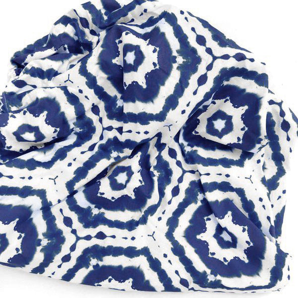 Woolf With Me Organic Changing Pad Cover Tie Dye color_navy