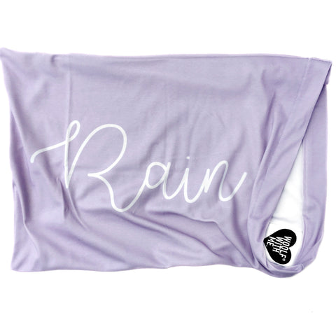 Personalized Organic Pillowcase, Cursive