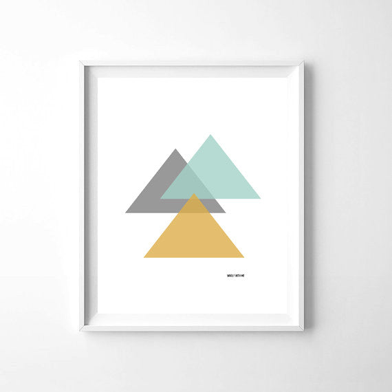 Wall Art Triangles, 8x10 - Woolf With Me®