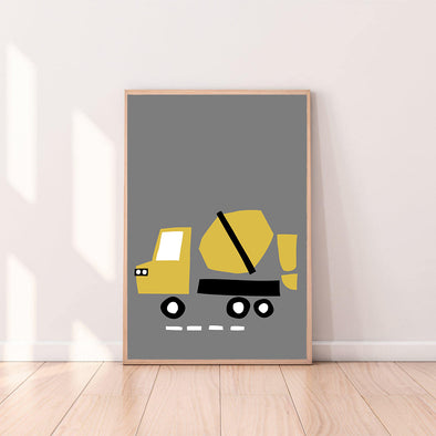 Wall Art Cement Truck