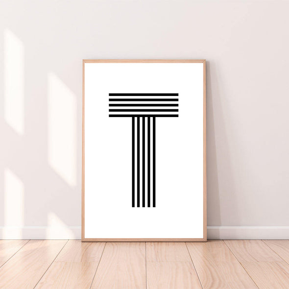 Wall Art Letter T color_black