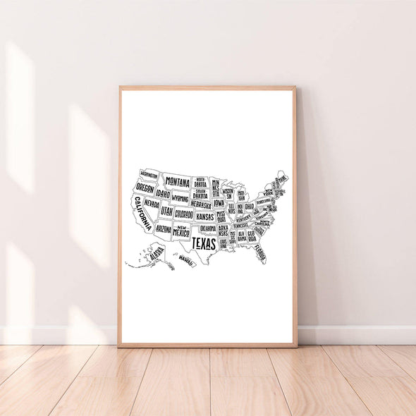 Wall Art United States of America Map