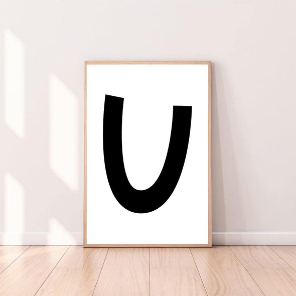Wall Art Letter U color_black