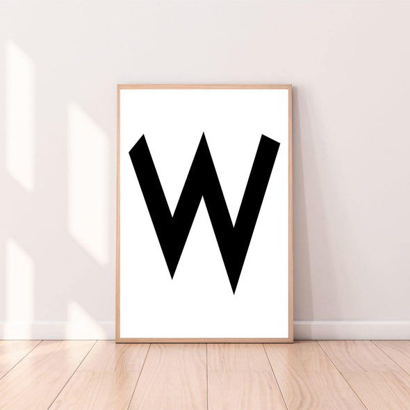 Wall Art Letter W color_black