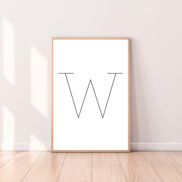 Letter Wall Art W color_black