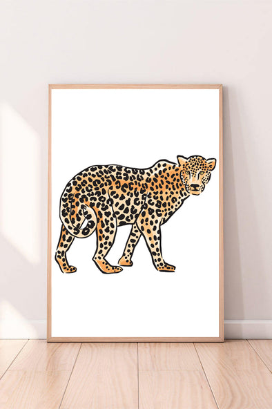 Wall Art Leopard color_black