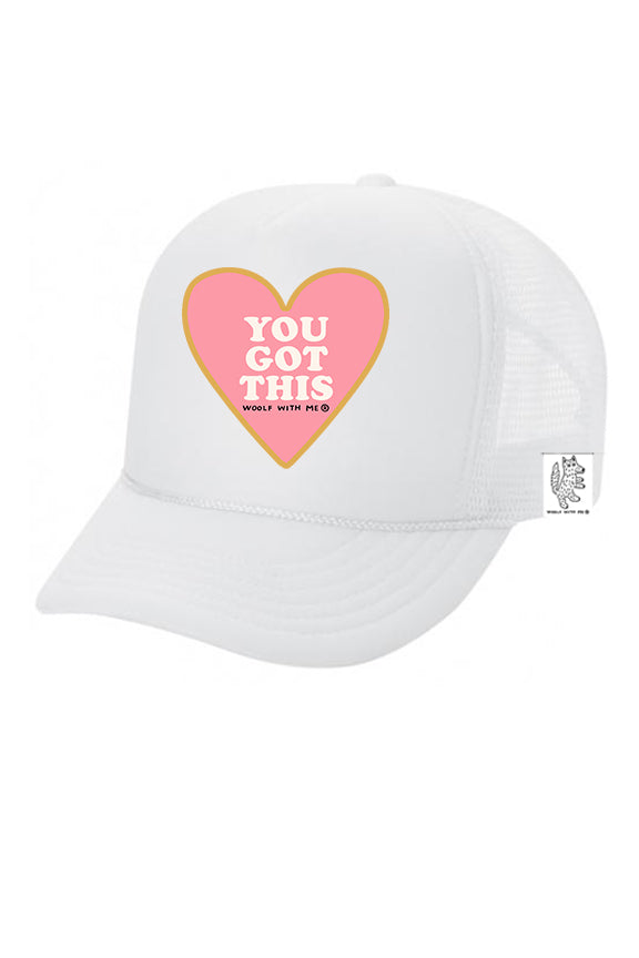 KIDS Trucker Hat You Got This 5Y-10Y color_white