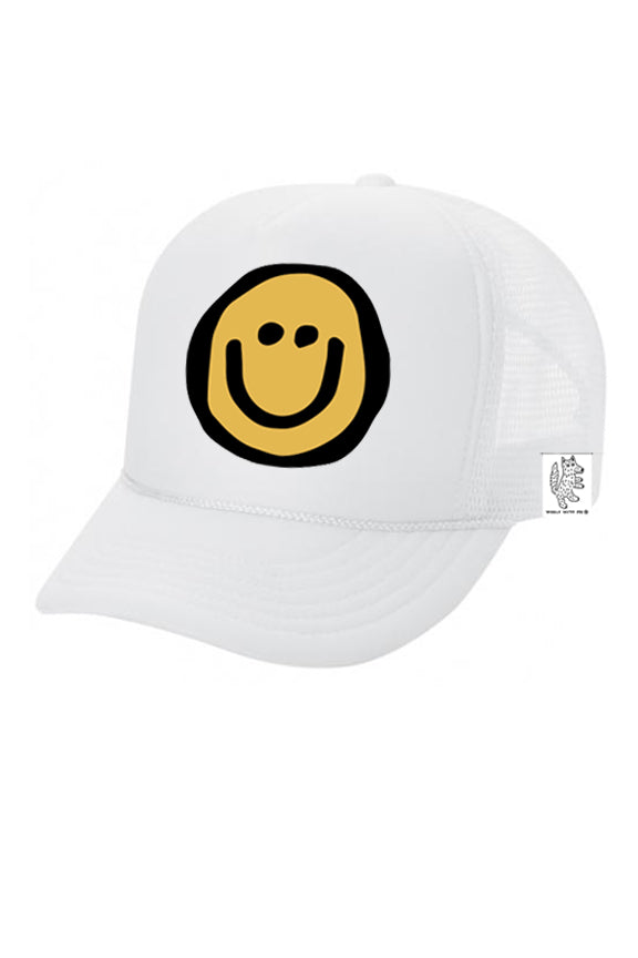 KIDS Trucker Hat Happy Face 5Y-10Y color_white