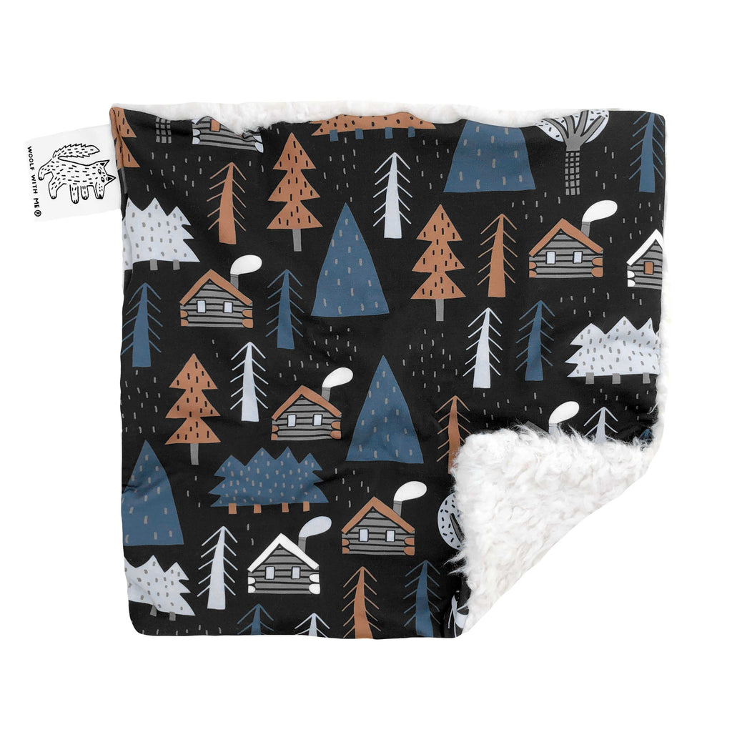 Lovey, Security Blanket Winter Cabins // Same Day Shipping!