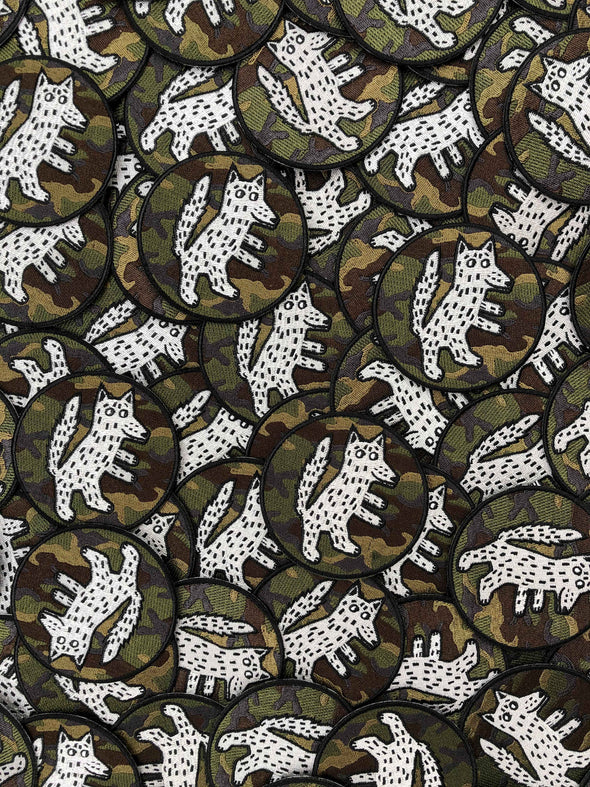 Wolf Embroidery Patch Camouflage // Same Day Shipping!