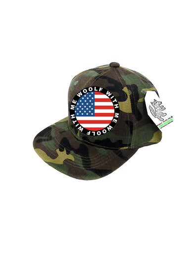 PREORDER, INFANT Camouflage Trucker Hat USA Flag 0M-12M